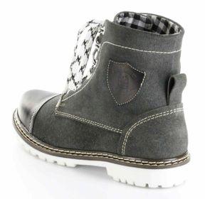 Bergheimer Trachtenschuhe Stiefel schwarz Leder Herren Damen Boots Schuhe Aflenz – Bild 4