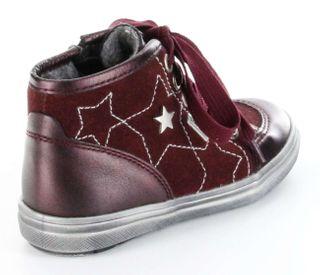 Richter Kinder Halbschuhe Sneaker rot Leder Warm Sympatex Mädchen 4445-421-7400 – Bild 3