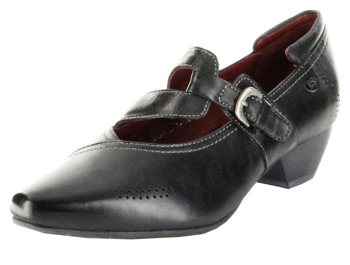Josef Seibel Halbschuhe schwarz Glattleder Lederdecksohle Damen Schuhe Kylie 05
