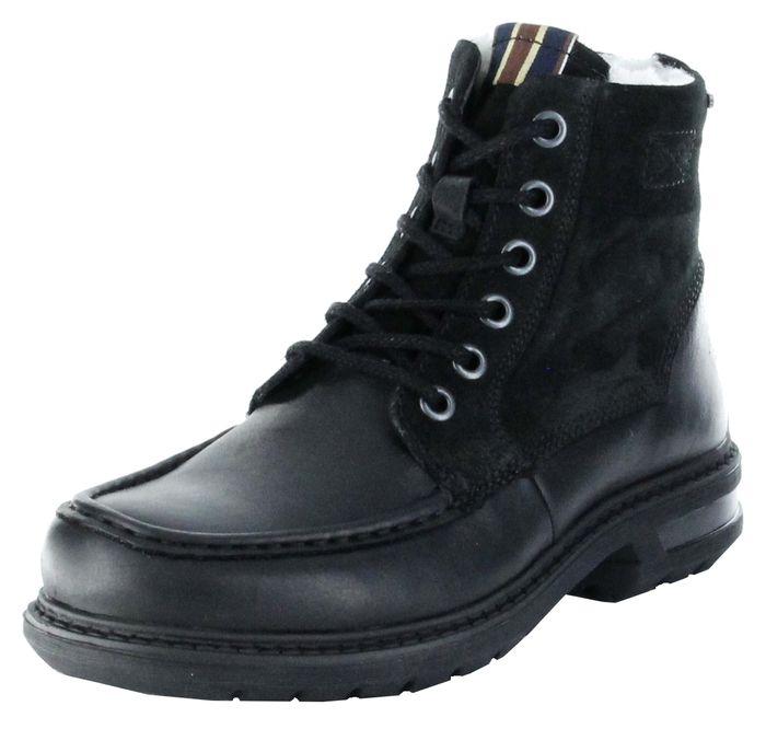 Marc Stiefel Boots schwarz GORE-TEX Leder Warm Herren Schuhe Colt 1.206.12-57