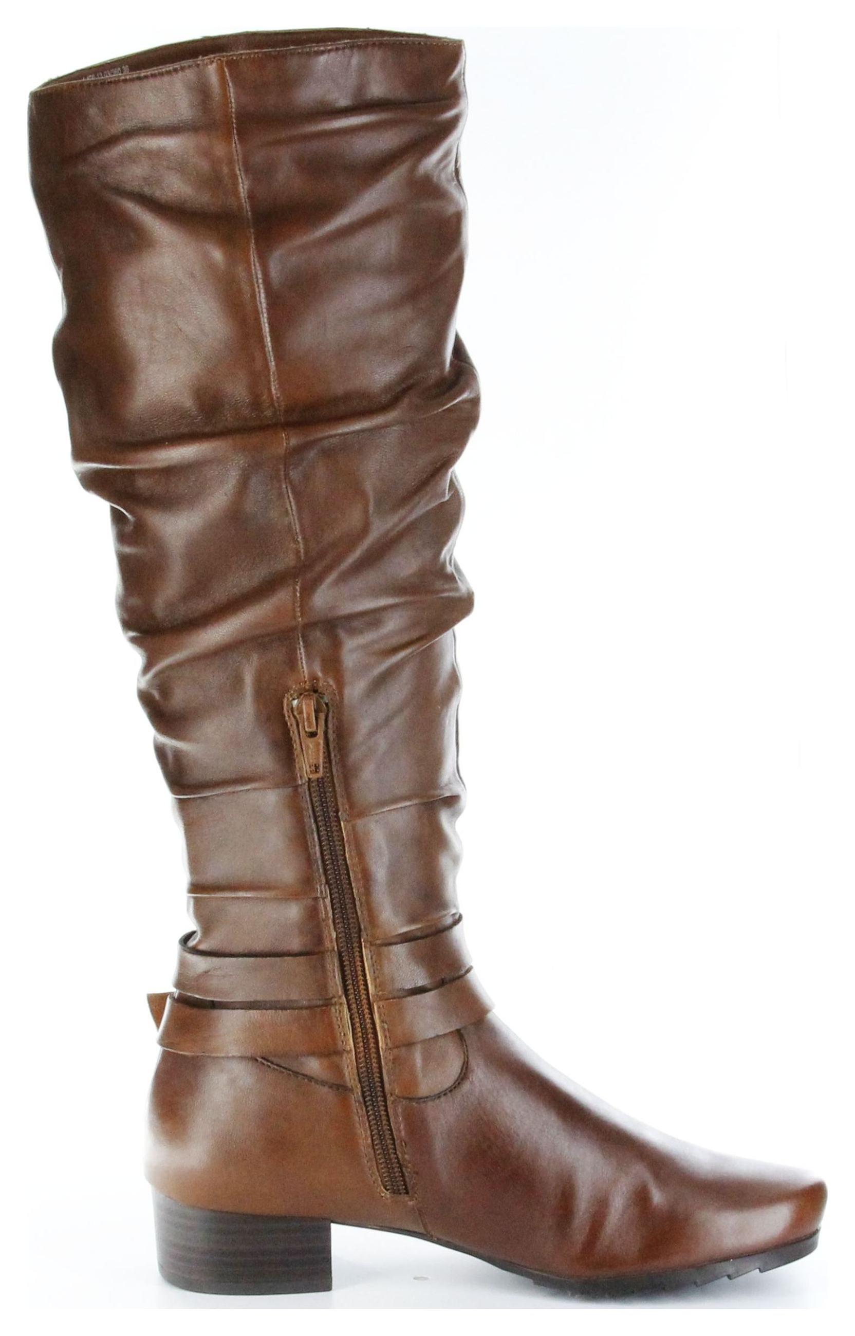 Marc Stiefel braun Damen Glattleder hochwertige Schuhe Madina 1.420.13 03 cognac