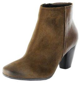 Högl Stiefeletten braun Velour Lederdeck Damen Schuhe 8-105811-5400 schlamm – Bild 1
