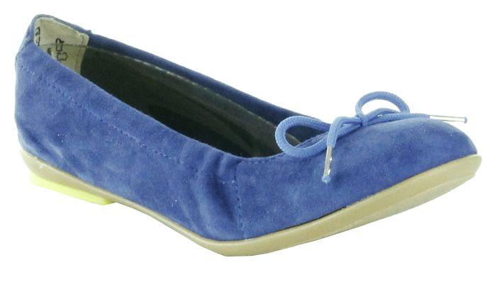 Richter Kinder Ballerinas blau Velour Mädchen Schuhe 3510-521-6900