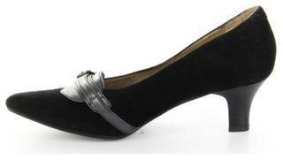 Marc Pumps schwarz Velourleder Lederdeck Damen Schuhe Marita 1-407-14-21 black – Bild 7