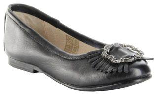 Bergheimer Trachtenschuhe Ballerinas Glattleder schwarz Mädchen-Schuhe Sandra – Bild 1