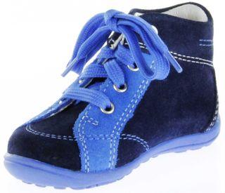 Richter Kinder Minis blau Velour Lederdeck Schnürer Jungen Schuhe 0026-732-7201 Mini – Bild 8