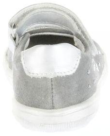 Richter Kinder Lauflerner-Ballerina Leder grau Mädchen-Schuhe 0312-731-0401 Dandi S – Bild 4