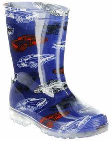 Conway Gummistiefel blau Regenstiefel Kinderschuhe Lichtfunktion Stiefel Schuhe Car – Bild 1