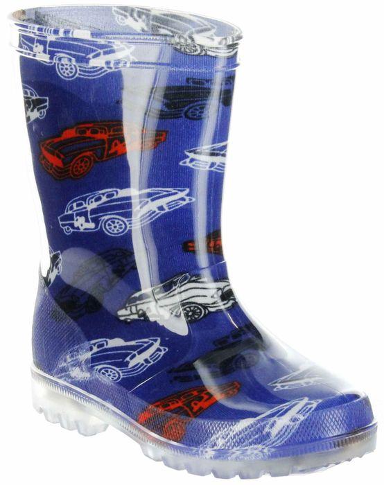 Conway Gummistiefel blau Regenstiefel Kinderschuhe Lichtfunktion Stiefel Schuhe Car