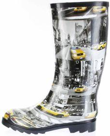 Conway Gummistiefel schwarz Regenstiefel Damen Stiefel Schuhe N.Y.Taxi – Bild 2