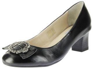 Bergheimer Trachtenschuhe Trachten Pumps schwarz Glattleder Damen Schuhe Luise – Bild 1