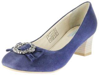 Bergheimer Trachtenschuhe Trachten Pumps blau Velourleder Damen Schuhe Luise – Bild 1