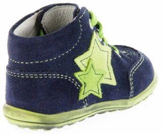 Richter Kinder Minis blau Velour Lederdeck Schnürer Jungen-Schuhe 0023-831-7201 atlantic Mini – Bild 3