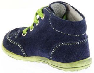 Richter Kinder Minis blau Velour Lederdeck Schnürer Jungen-Schuhe 0023-831-7201 atlantic Mini – Bild 5