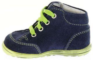 Richter Kinder Minis blau Velour Lederdeck Schnürer Jungen-Schuhe 0023-831-7201 atlantic Mini – Bild 7