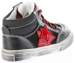 Richter Kinder Lauflerner-Halbschuhe grau Glattleder Jungen-Schuhe 0821-831-6501 steel Oceano – Bild 3