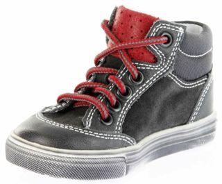 Richter Kinder Lauflerner-Halbschuhe grau Glattleder Jungen-Schuhe 0821-831-6501 steel Oceano – Bild 8