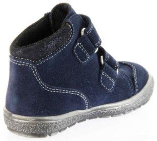 Richter Kinder Lauflerner-Halbschuhe blau Velourleder SympaTex Klett Mädchen Schuhe 1533-831-7201 atlantic Star – Bild 5