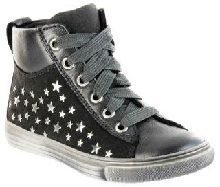 Richter Kinder Halbschuhe Sneaker grau Metallic Velourleder Mädchen Schuhe WMS 3142-831-9600 altsilber Fedora