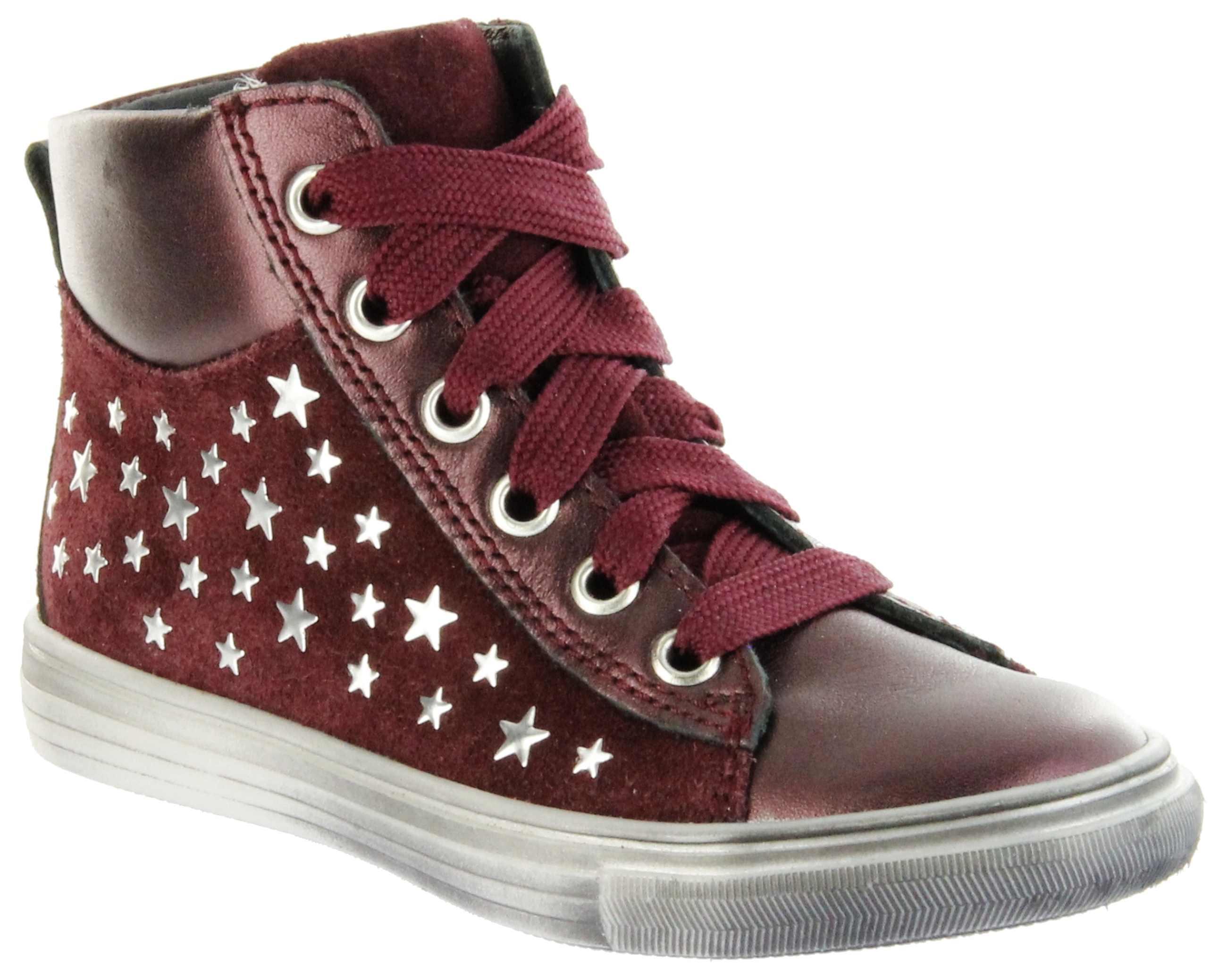 big sale 17bb7 bea32 Richter Kinder Halbschuhe Sneaker rot Metallic Velourleder Mädchen Schuhe  WMS 3142-831-7400 port Fedora
