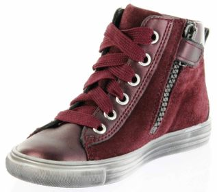Richter Kinder Halbschuhe Sneaker rot Metallic Velourleder Mädchen-Schuhe WMS 3142-831-7400 port Fedora – Bild 8