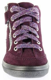 Richter Kinder Halbschuhe Blinkies Sneaker violett Velour Warm Mädchen-Schuhe WMS 4441-831-7601 eggplant Ilva – Bild 9