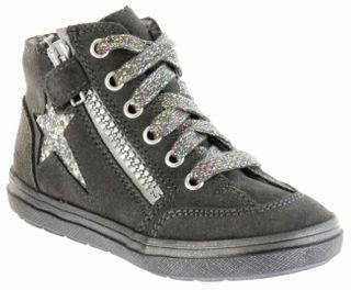 Richter Kinder Halbschuhe Blinkies Sneaker grau Velour Warm Mädchen-Schuhe 4441-831-6501 steel Ilva – Bild 1