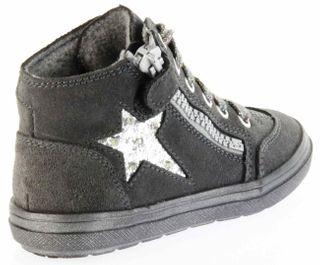Richter Kinder Halbschuhe Blinkies Sneaker grau Velour Warm Mädchen-Schuhe 4441-831-6501 steel Ilva – Bild 3