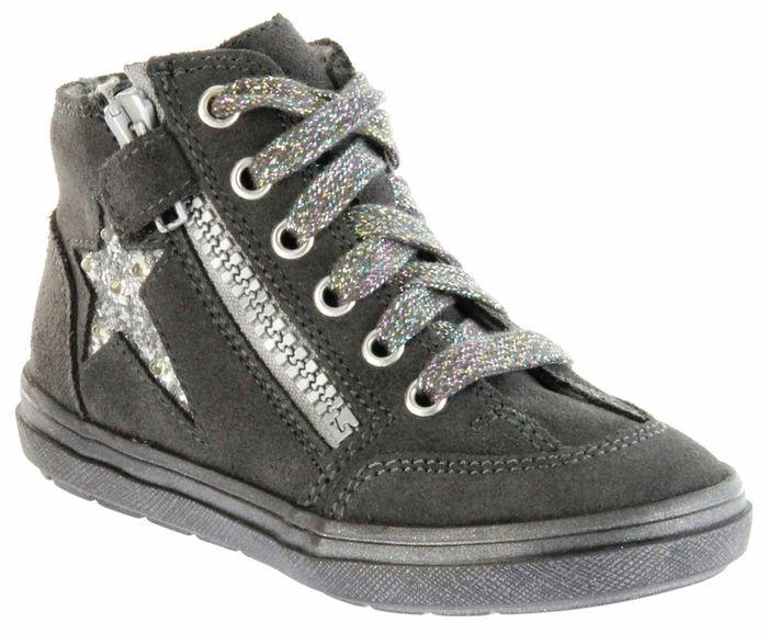 Richter Kinder Halbschuhe Blinkies Sneaker grau Velour Warm Mädchen Schuhe 4441-831-6501 steel Ilva