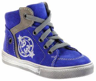 Richter Kinder Halbschuhe Sneaker blau Blinkies Velourleder Jungen Schuhe 6543-832-6901 FitMI cobalt Ola – Bild 1
