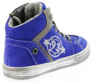 Richter Kinder Halbschuhe Sneaker blau Blinkies Velourleder Jungen Schuhe 6543-832-6901 FitMI cobalt Ola – Bild 3