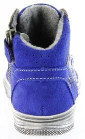 Richter Kinder Halbschuhe Sneaker blau Blinkies Velourleder Jungen Schuhe 6543-832-6901 FitMI cobalt Ola – Bild 4