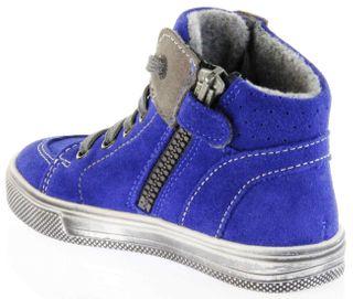 Richter Kinder Halbschuhe Sneaker blau Blinkies Velourleder Jungen Schuhe 6543-832-6901 FitMI cobalt Ola – Bild 5