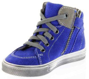 Richter Kinder Halbschuhe Sneaker blau Blinkies Velourleder Jungen-Schuhe 6543-832-6901 FitMI cobalt Ola – Bild 8