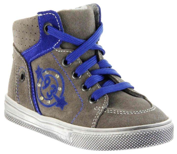 Richter Kinder Halbschuhe Sneaker grau Blinkies Velourleder Jungen Schuhe FitMI 6543-832-6611 pebble Ola