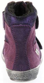 Richter Kinder Lauflerner-Stiefel SympaTex Warm Velourleder violett Mädchen-Schuhe 1537-833-7503 blackberry Star – Bild 4