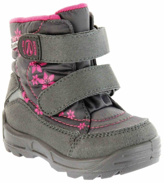 Richter Kinder Lauflerner-Stiefel SympaTex Warm grau Mädchen WMS 2031-831-6502 steel Freestyle