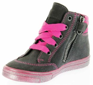 Richter Kinder Halbschuhe Sneaker grau Velour SympaTex Mädchen 4541-833-6501 steel Ilva – Bild 8