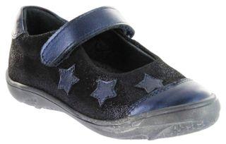Richter Kinder Ballerinas Velour blau Mädchen-Schuhe 3610-831-7200 atlantic FitMI Vela – Bild 1