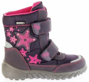 Richter Kinder Winter Boots Stiefel lila Warmfutter SympaTex Mädchen Blinkie 5131-831-7701 aubergine WMS Husky – Bild 2