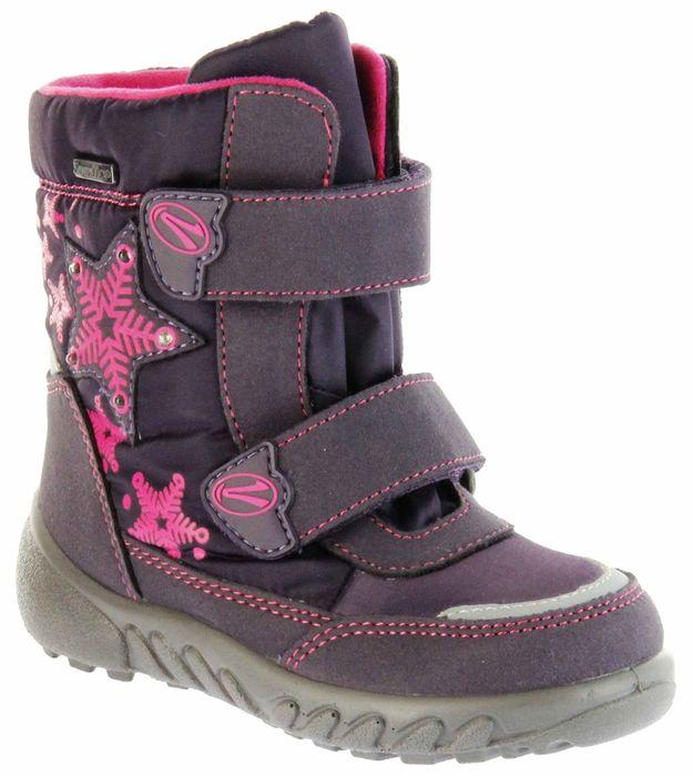 Richter Kinder Winter Boots Stiefel lila Warmfutter SympaTex Mädchen Blinkie 5131-831-7701 aubergine WMS Husky