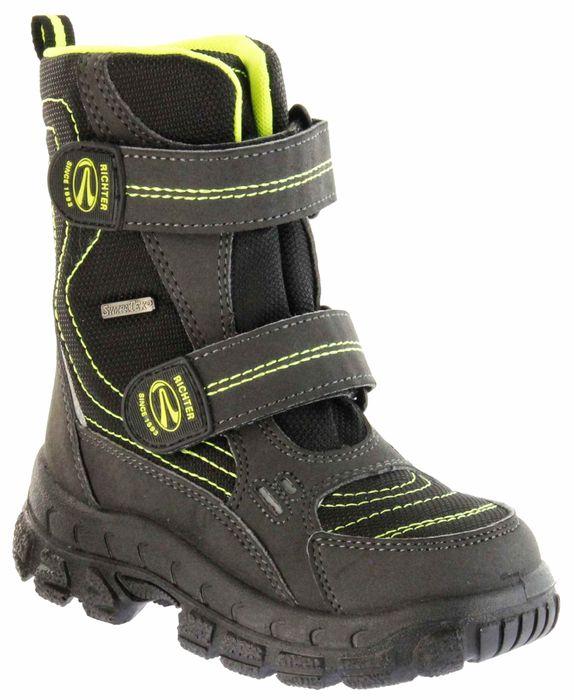 Richter Kinder Winter Stiefel Boots schwarz gelb SympaTex Warm Jungen 7931-831-9902 black neon mais Davos WMS