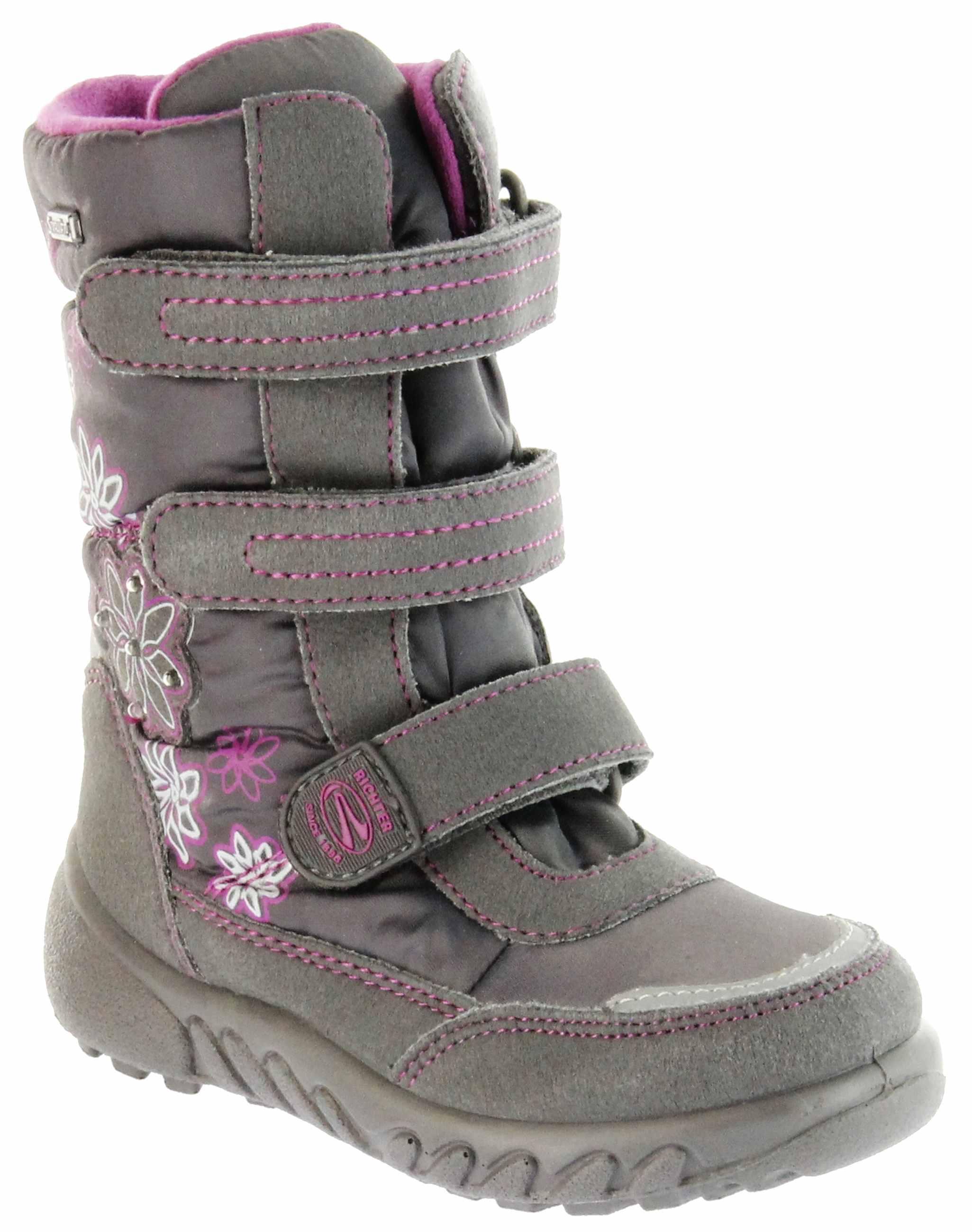 save off 5c4bf 174bc Richter Kinder Winter Boots Stiefel grau Warmfutter SympaTex Mädchen  Blinkie 5151-831-6501 steel Husky WMS