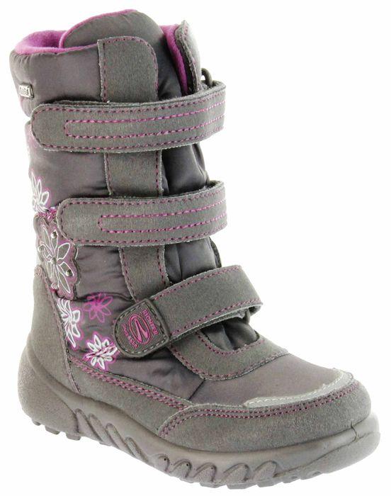 Richter Kinder Winter Boots Stiefel grau Warmfutter SympaTex Mädchen Blinkie 5151-831-6501 steel Husky WMS