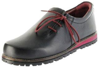 Bergheimer Trachtenschuhe Haferlschuhe schwarz rot Leder Herren Schuhe Fügen – Bild 1