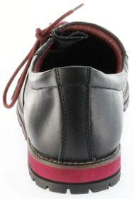Bergheimer Trachtenschuhe Haferlschuhe schwarz rot Leder Herren Schuhe Fügen – Bild 4
