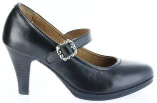 Bergheimer Trachtenschuhe Trachten Pumps schwarz Leder Damen Schuhe Bärbel – Bild 2