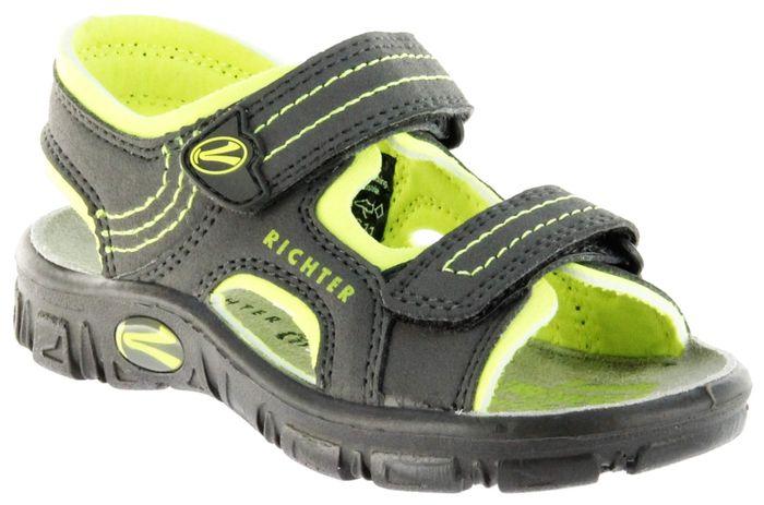 Richter Kinder Sandaletten Outdoor grau Lederdeck Jungen Schuhe 8101-141-6611 Adventure