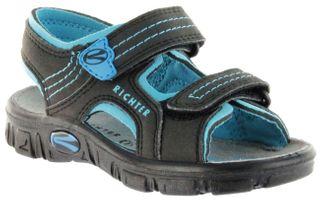 Richter Kinder Sandaletten Outdoor black Lederdeck Jungen-Schuhe 8101-141-9903 Adventure – Bild 1