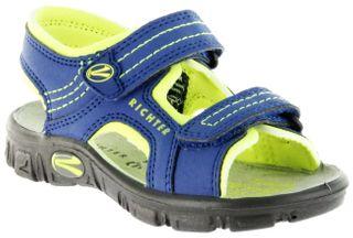 Richter Kinder Sandaletten Outdoor blau Lederdeck Jungen Schuhe 8101-141-6901 Adventure